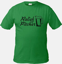 Relief Pitcher Funny Green St Patricks Day Tee shirt st. pattys Beer T-shirt