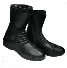 NEW BIKERS GEAR TOURING MOTORCYCLE ALL LEATHER BOOT SIZE 43-48