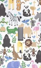 Light Switch Plate Switchplate & Outlet Covers KID'S ROOM COLORFUL ZOO ANIMALS