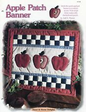 Apple Patch Banner, Creative Scrap Quilting pattern & templates