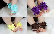 Cute Flower Infant Baby Girl feet 1PC Toddler Barefoot Blooms Ring Sandals Shoes