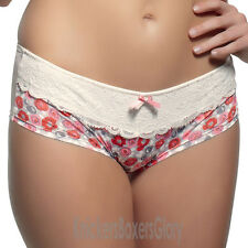Panache Superbra Lingerie Lorna Shorts/Knickers Rose Print 6304 NEW Select Size