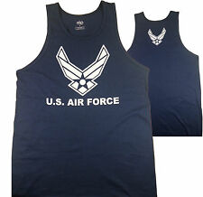 NEW UNITED STATES AIR FORCE WINGS TANK NAVY BLUE 4 SIZES AVAILABLE