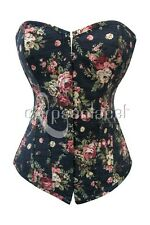 CORSET BUSTIER SERRE-TAILLE TOP IMPRIM� FLORAL SOIREE HABILLEE SORTIE QUALIT� ++