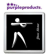 PERSONALISED SHOOTING SYMBOL DRINKS COASTER AVAILABLE IN 6 COLOURS