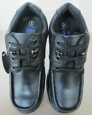 Gass Back To School - BTS 12 Lace Gibson - Boys Black Lace Up Shoes