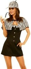 Adult Sexy Sherlock Holmes Detective Costume Outfit