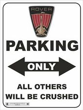 3891 ROVER LOGO PARKING ONLY VINTAGE CLASSIC CAR  METAL WALL SIGN BRAND NEW