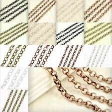 4m & 2m Premium Unfinished Rollo Chain Jewellery Making Findings 4 Colors Lots
