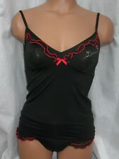 Italian Cotonella Sexy Camisole Set:Top+Thong. Gorgeous. Top Quality. M, L.