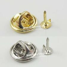 20 50 100 pcs TIE Tacks Findings Pins & Round Pinch Clip Chrome Lapel Clutches