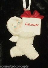 Department 56 Snowbabies Christmas Personalized Ornaments *SEE NAME SELECTION*