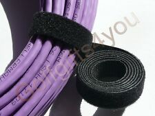 GENUINE CABLE TIE VELCRO STRAP VARIOUS WIDTHS & COLOURS & LENGTHS