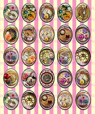25pcs Steampunk Watch Part Gear Jewel resin cameo cabochon cab CLOCK FACE 2.1-25