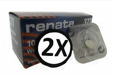 2 x Renata Watch Battery Swiss Made [ All Sizes ] Silver Oxide Renata Batteries