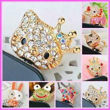 SPARKLING HELLO KITTY / ANIMALS ANTI DUST MOBILE PHONE/IPHONE 3.5MM PLUG
