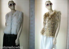 free shipping/Best raccoon fur skins made with zipper vest/jacket/brown/white