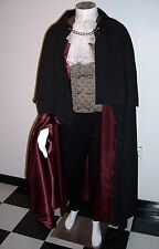 Opera Cape Victorian Men's Cloak Capelet CHOOSE LINING Black Gold Red Wine S XL