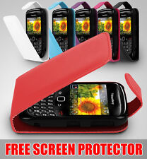 LEATHER FLIP SERIES CASE COVER SCREEN PROTECTOR FITS BLACKBERRY CURVE 8520 9300