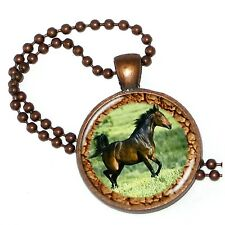 """Horse Play All Play on Crystal Pendant w/ 24"""" Matchng Ball Chain"""