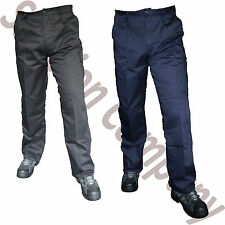 Mens Combat Cargo Work Trousers Black Navy Action Waist 30 to 42 Leg 29 31 33