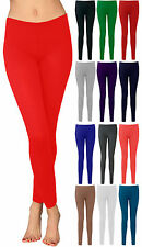 New Ladies Legging Womens Long Full Length Ankle Stretch Jersey Pants Sizes 8-14