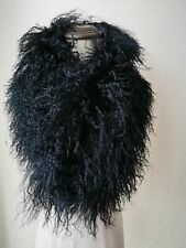 women's  real whole   lamb fur scarf  collar with clip/handmade/5color