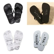 NEW Just Married Thongs Bride Groom Wedding Gift Flip Flops Honeymoon Accessory