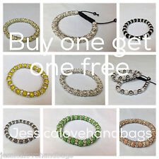 UK-Clay Crystal balls #shamballa bracelet-New design 8mm BUY ONE GET ONE FREE