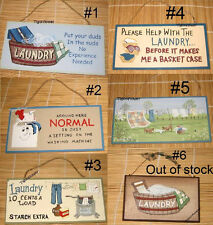 Wood Sign Plaque Laundry Room Decor Country Rustic You Choose