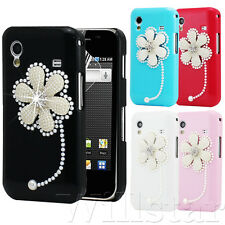 NEW BLING FLOWER DIAMOND CASE COVER FOR SAMSUNG GALAXY ACE S5830  SCREEN GUARD