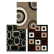 "Modern Abstract Shag Area Rug 5x7 Contemporary Shaggy Carpet -Actual 4'9""x6'6"""