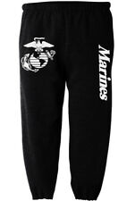 US United States Marines USMC black tracksuit jogging training pants sweatpants