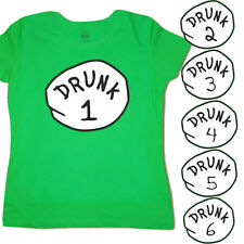 Ladies T-shirt Choose one Drunk 1 2 funny st patricks pattys day tee green shirt