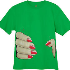 Big giant nail polish hand squeeze squeezing design funny st patricks day shirt