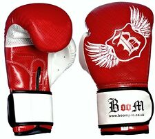 BOOM Pro Synthetic Leather Boxing Gloves,Sparring,MMA,Punch Bag Free Hand Wraps