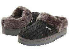 Skechers Keepsakes 'Postage' Ladies Charcoal Sweater Clog w/Faux Fur (See Sizes)