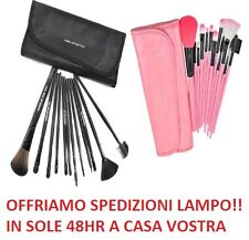 Set Kit PROFESSIONALE 12 Pennelli per make up con Pochette - SETOLE MORBIDE !!!!