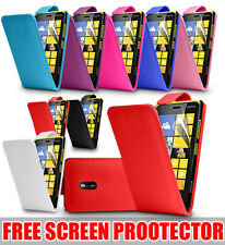 LEATHER FLIP CASE COVER FOR NOKIA LUMIA 620 FREE SCREEN PROTECTOR