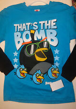 Boys Angry Birds Star Wars Blue Black Two Toned Long Sleeve Top SIzes S, M, XL