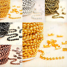 Silver/Gold Necklace Chains Ball Chain Link Metal Unfinished Chain 4-20m 2.4mm