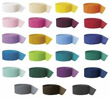 81'/25m CREPE STREAMERS (Party Decorations) ALL COLOURS {fixed £1 UK p&p}
