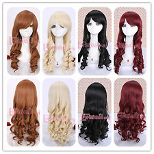 55-60cm Long Classic Multi-colors Wave Anime Cosplay Wig+A Free Wig Cap ZY06