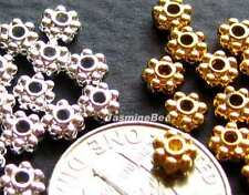 Tiny Daisy Spacers Silver/ Gold Tone Plated Beads 4mm*100+