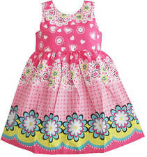 Sunny Fashion Girls Dress Pink Floral Print Dress Size 12M 2 3 4 5 6 7 8
