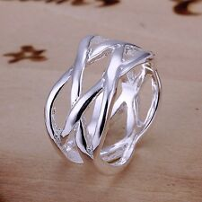 925 Sterling Silver Mesh fishnet Ring Size Free shipping from US Size 6 7 8 9
