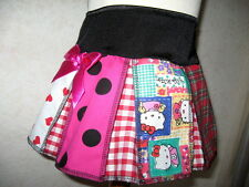 New Baby Girls Black,red,White,Check,Hearts,Kitty,spots,tartan Party Skirt,Goth