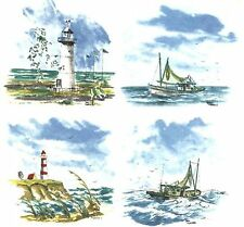 "Lighthouse Shrimp Boat 2 1/2"" or 3 3/4"" Select-A-Size Waterslide Ceramic Decals"
