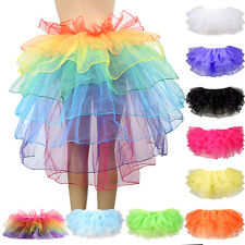 Ladies Pettiskirt Girls Ballet Tutu Ruffle Skirts Black White Rainbow Tutu Skirt