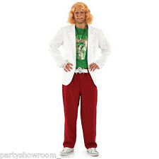 Mens TV Game Show Host Fancy Dress Stag Party Costume + FREE Wig & Tash PS